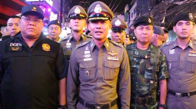 Bei einer Inspektion der Walking Street in Pattaya konnte die Polizei keine Prostitution feststellen
